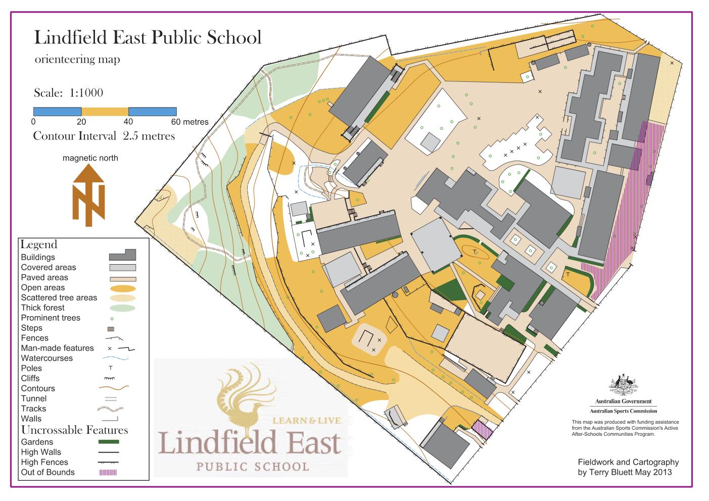 full size school map